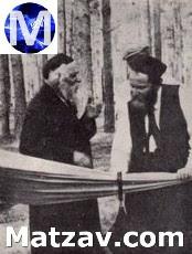 A rare photo: Rav Boruch Ber with Rav Aharon Kotler.