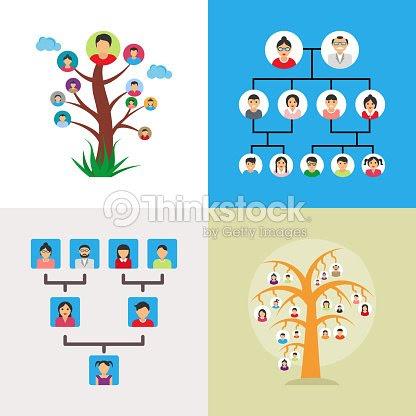 家系図のベクトル イラストのセット ベクトルアート Thinkstock
