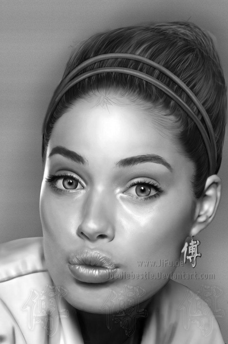 40 obras-primas da pintura digital de celebridades 06