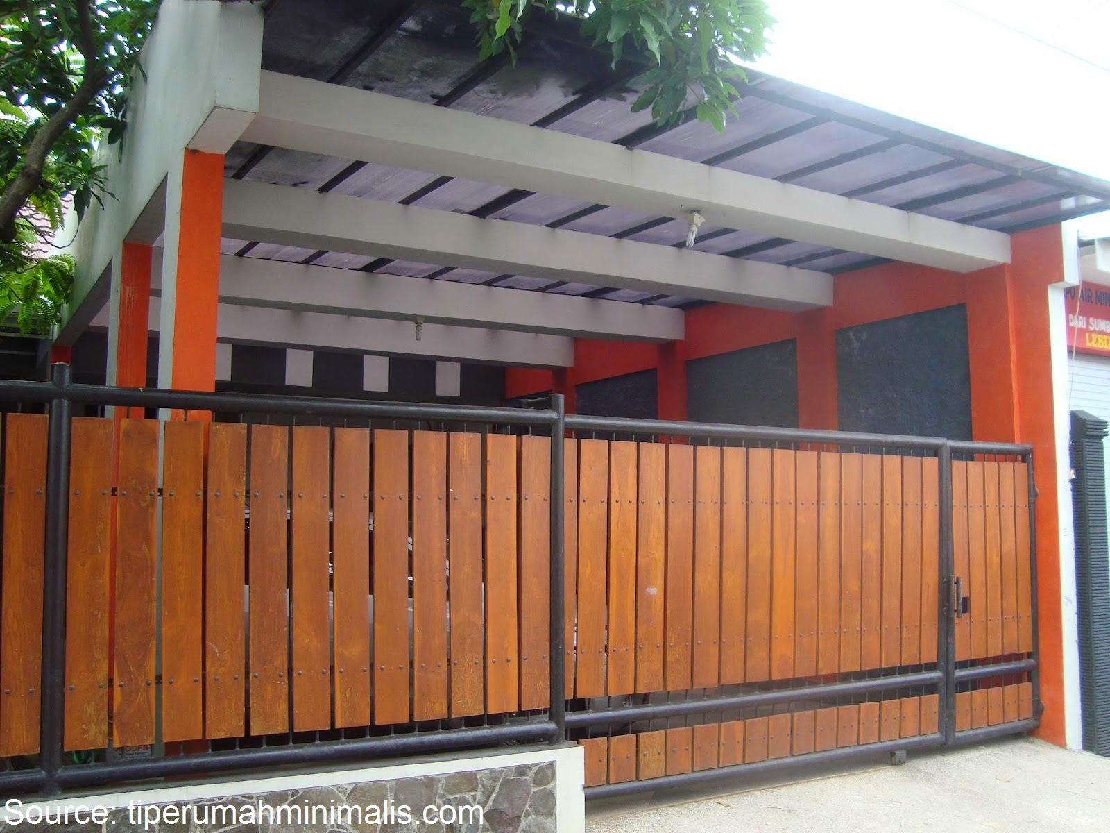 Cat Pagar Rumah Warna Orange - Situs Properti Indonesia