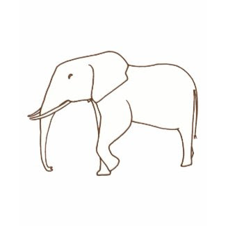 Color in Shirts - Elephant drawing, t shirts shirt