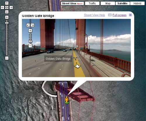 金门大桥Google卫星地图