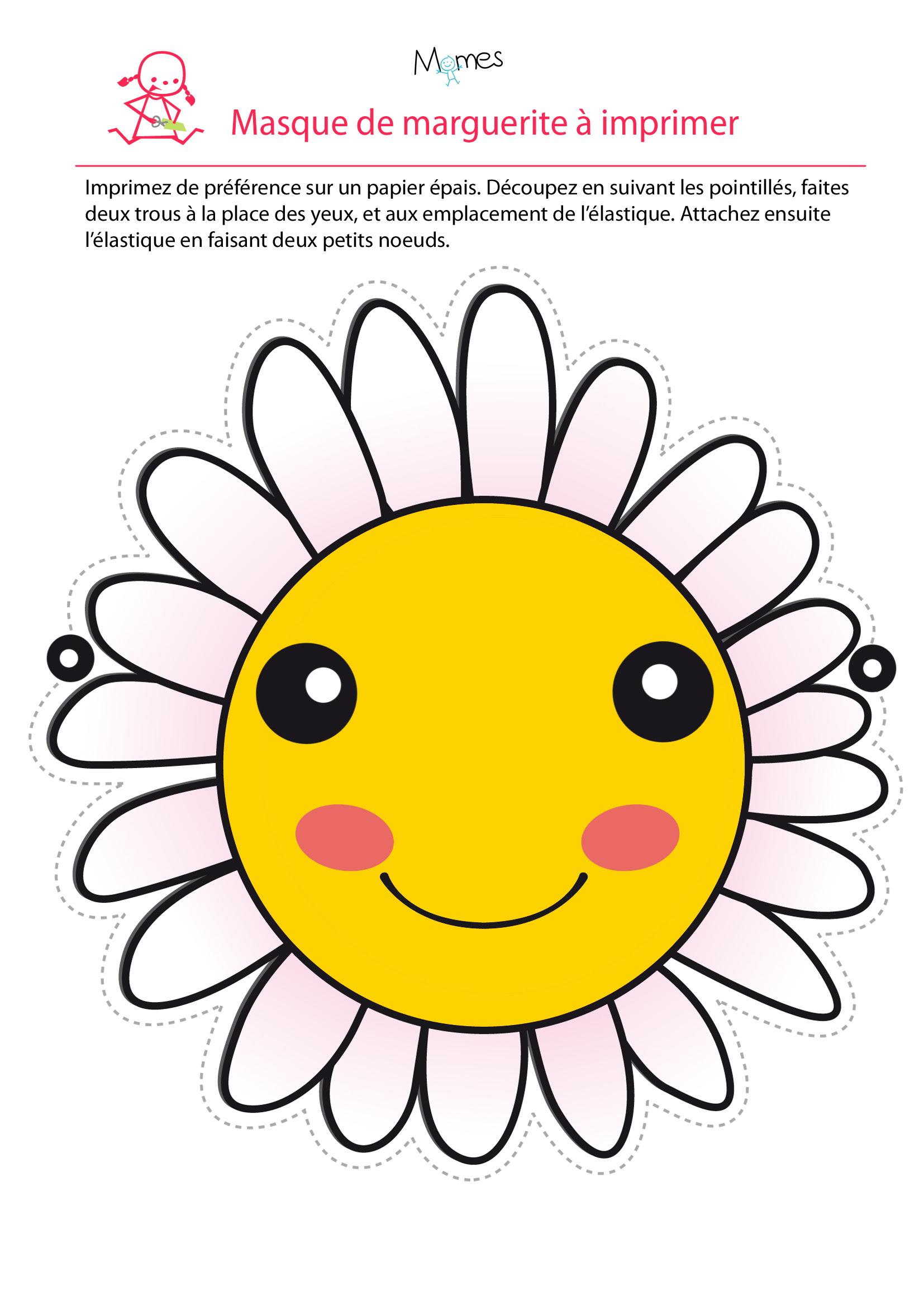 Masque fleur  imprimer