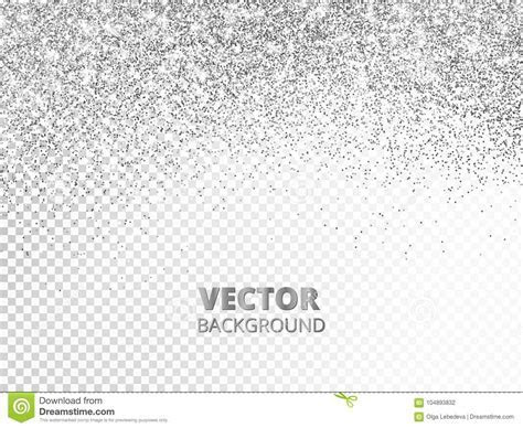 Falling Glitter Confetti. Vector Silver Dust Isolated On