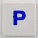 hangman tile blue letter P