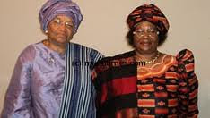 Africa's two women presidents, Ellen Johnson-Sirleaf of Liberia and Joyce Banda of Malawi. President Banda visited Liberia on April 28, 2012. by Pan-African News Wire File Photos