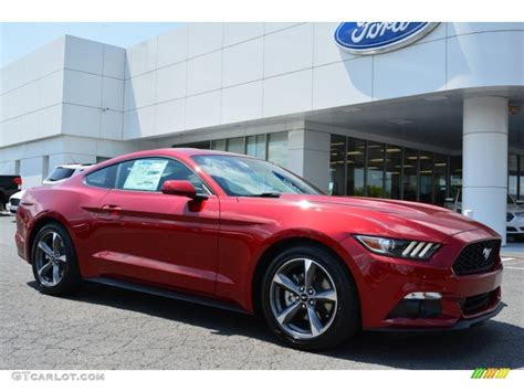 ruby red metallic ford mustang  coupe