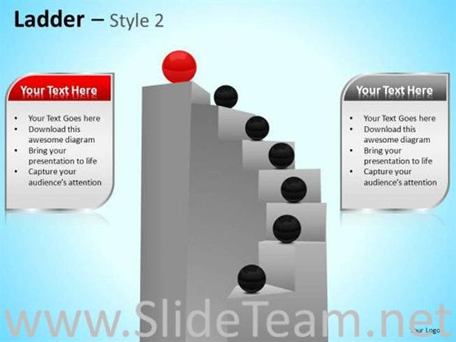 Business Teamwork Ladder For Success Powerpoint Diagram