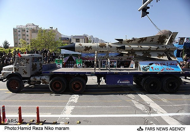 The Iranian Armed Forces displayed an optimized version of the Russian-made S-200 long-range air defense system during the military parades in Tehran, Friday, September 21, 2012.