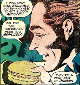 Chow time for Captain Boomerang