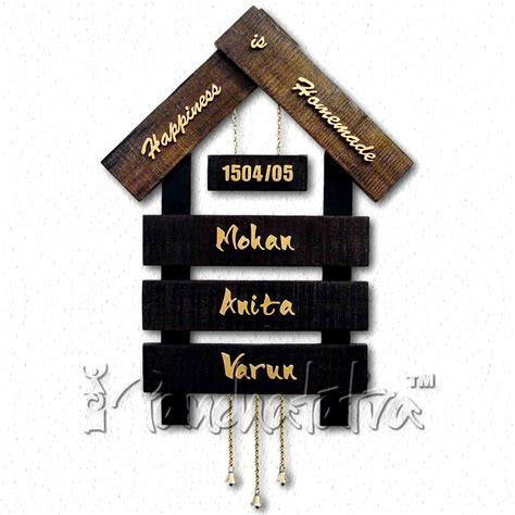 Buy Big Nameplate Design of House with 3 Plates for Names