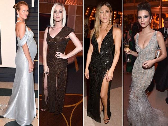 Jennifer Aniston lidera glamour na Vanity Fair Oscars bash