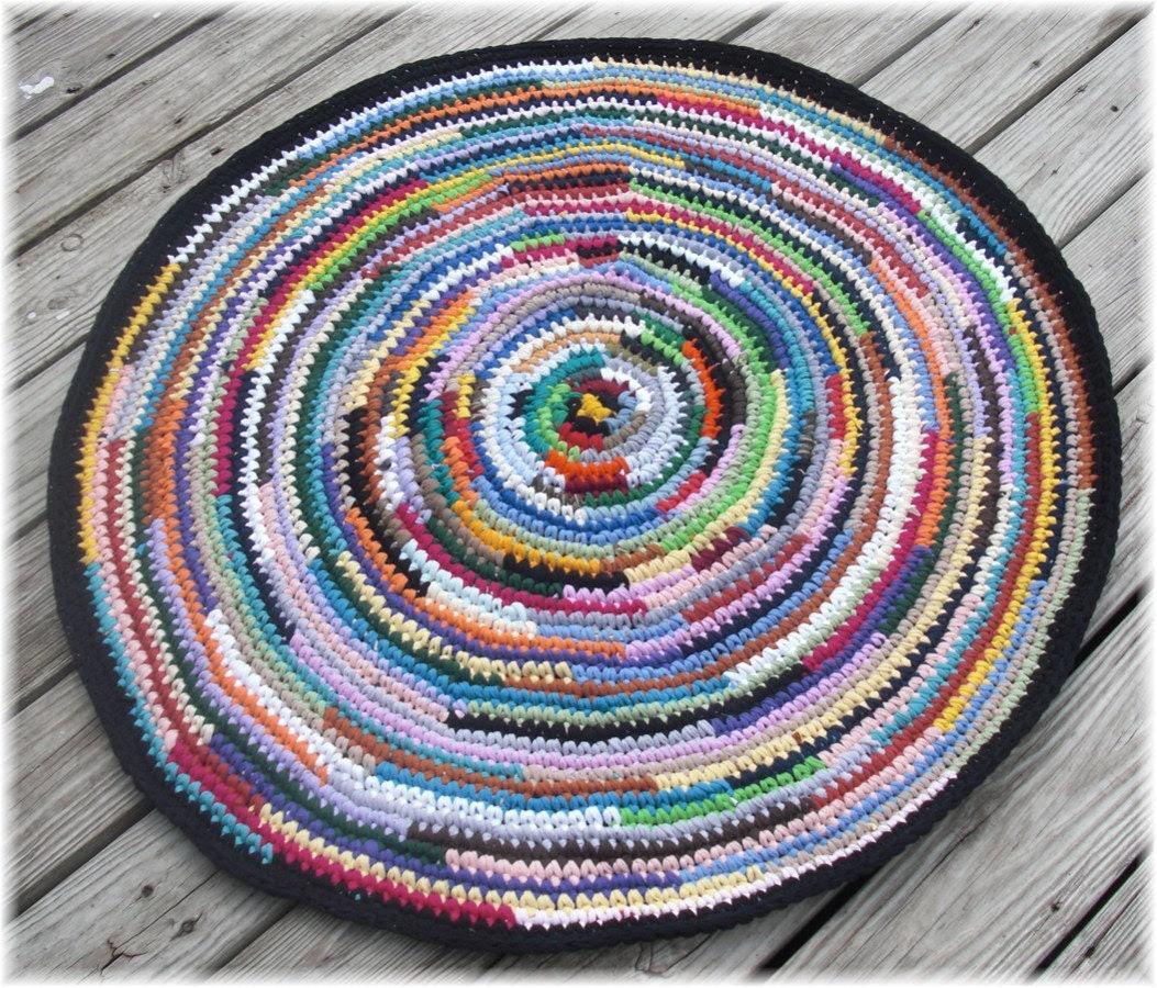 Round Rag Rug 40 inches