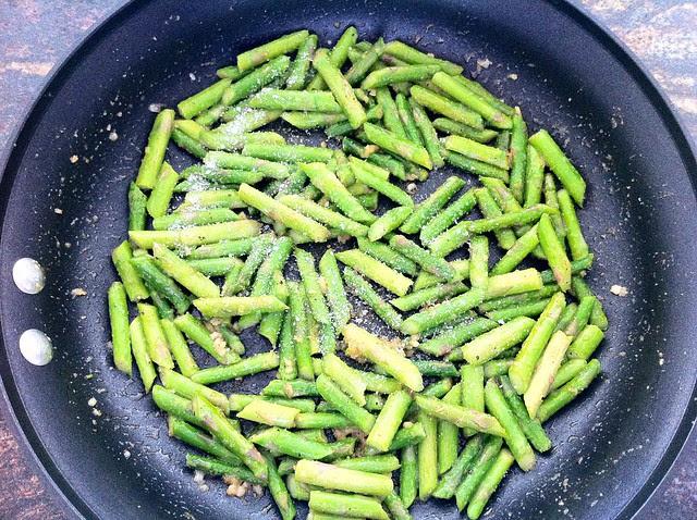 Salt Sprinkled Over Asparagus