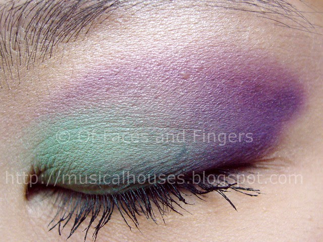 sleek curacao palette aqua purple eye look 1