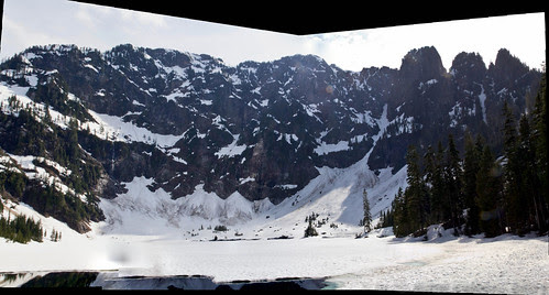 A Photosynth stitched panorama of Mt. Pilchuck at Lake 22