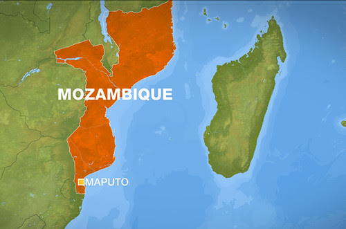 A map of Mozambique in Southern Africa. The country was formerly colonized by Portugal prior to the 1975 revolution led by Samora Machel (1933-1986). by Pan-African News Wire File Photos