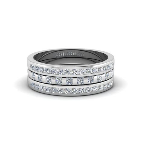 Princess And Round Diamond Stackable Ring   Fascinating