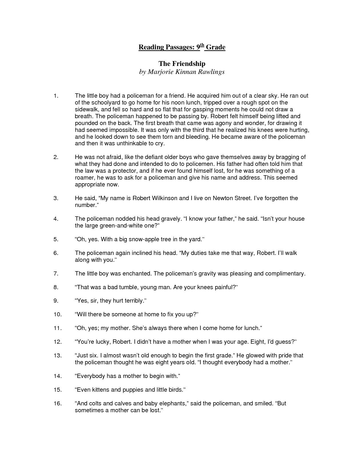 19 Best Of 9th Grade English Worksheets Printable