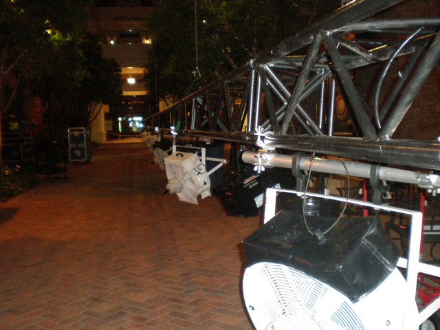 fake snow machines at the gaylord national resort