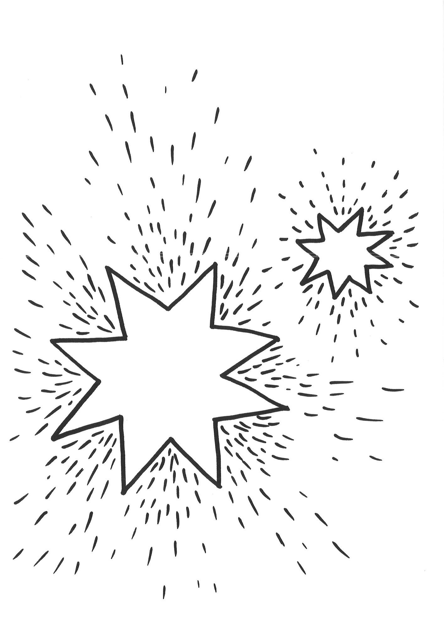 Ausmalbild Schneeflocken und Sterne: Ausmalbild Sterne 1 ...