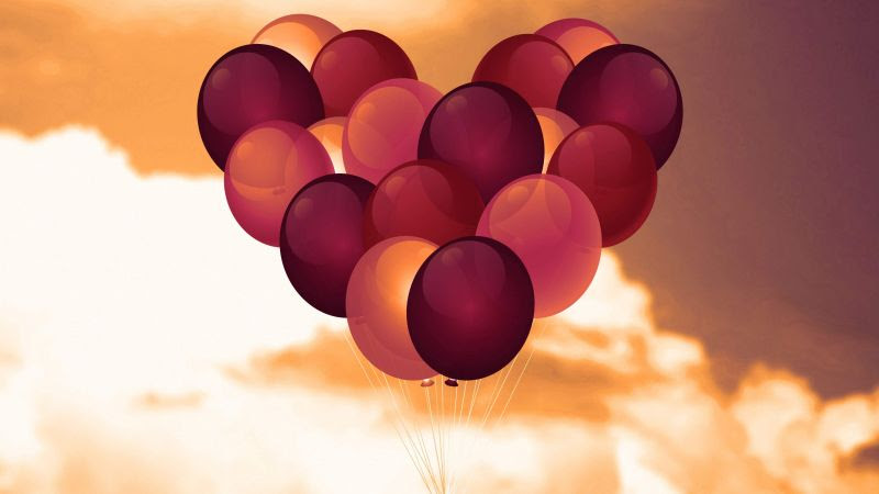 Download 930 Background Pink Balon Gratis