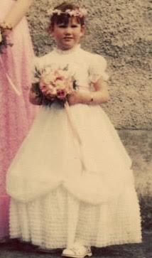 80's flower girl dress