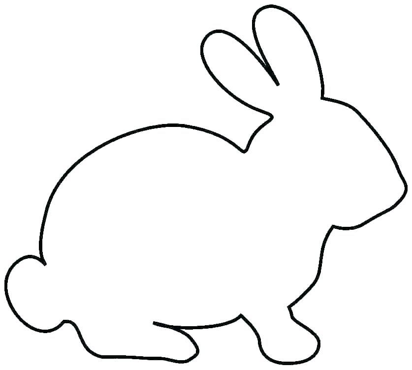 Rabbit Silhouette Printable at GetDrawings | Free download