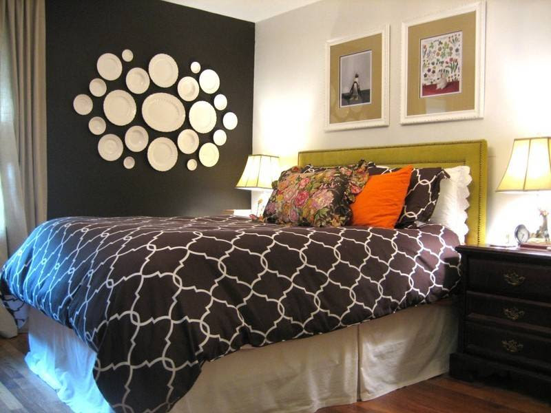 Bedroom Paint Color Ideas With Accent Wall | Modern Diy Art Design ...
