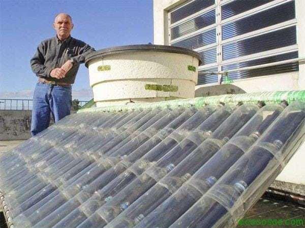 Calentador Agua Solar Botellas Plasticos Aprovechemos el sol