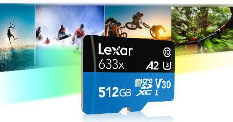 Lexar Dévoile Une Carte Micro Sdxc A2 De 512 Go Pour Les