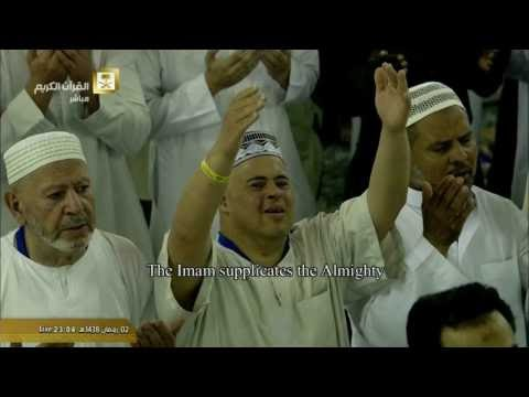 الشفع والوتر والقنوت  ليلة 3- #رمضان -1438هـ  للشيخ د. ماهر المعيقلي