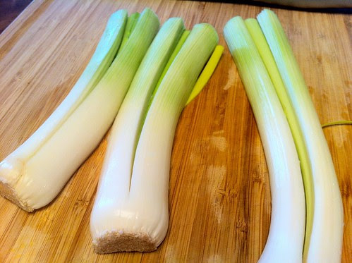 Slice Leeks Lengthwise With Root On