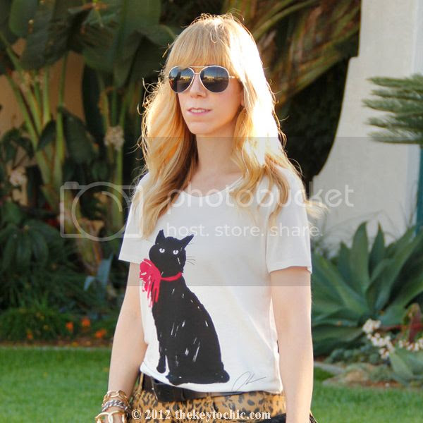 Jason Wu for Target cat T-shirt, Target leopard print jeans, L.A. fashion blog