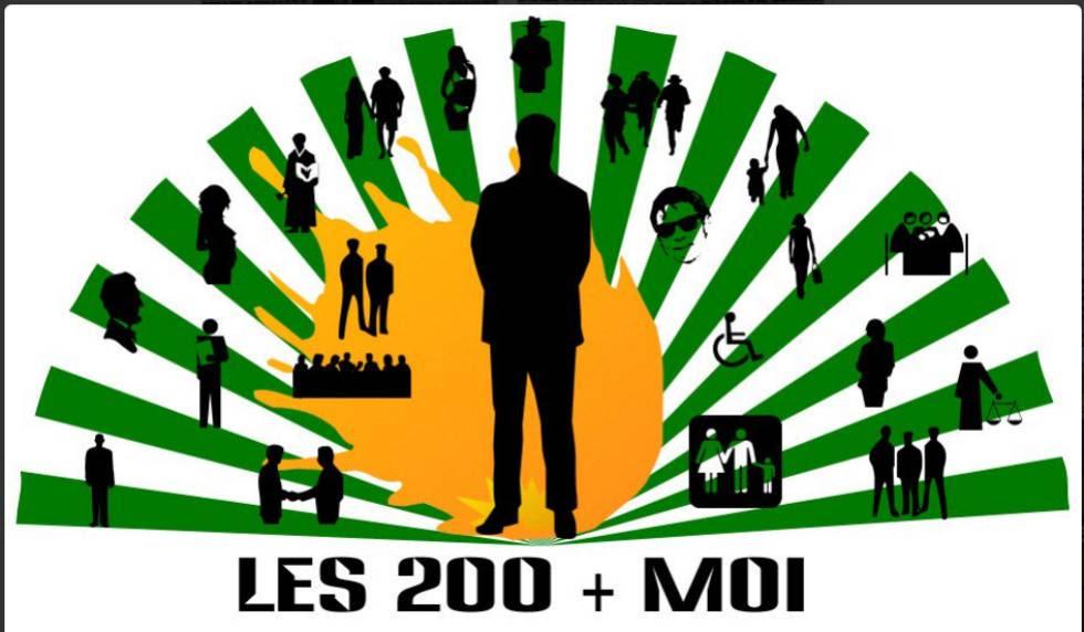 Imagen difundida en redes sociales para apoyar la campaña #les200.