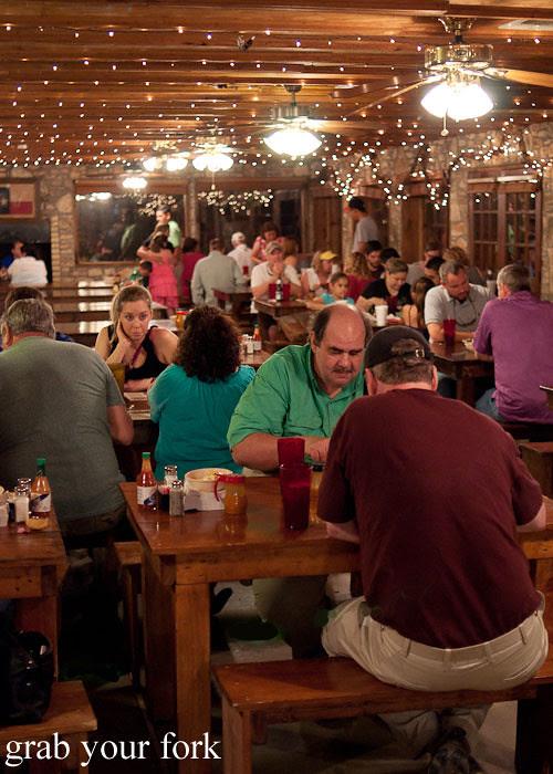 dining room at the salt lick bbq driftwood austin texas