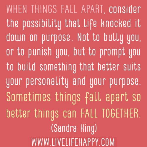 Quotes About Everything Falls Apart 61 Quotes