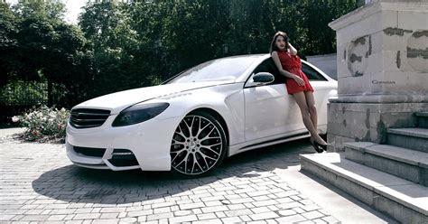 mercedes benz cl class  mercedes coupe girl hd wallpaper