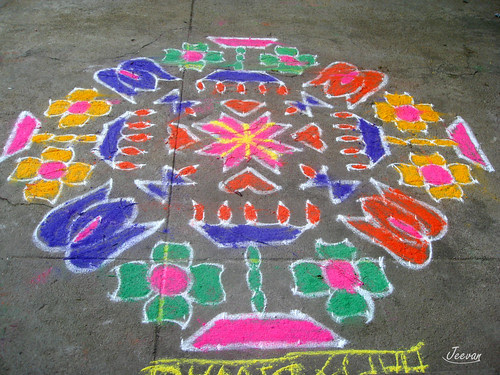 Margazhi - a month of drawing kolam.