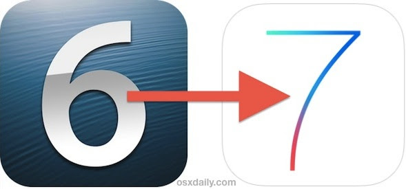 Update to iOS 7 manually with IPSW