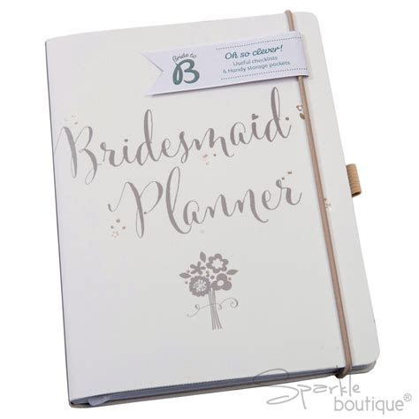 BRIDESMAID PLANNER  Wedding Journal/Organiser/Notebook