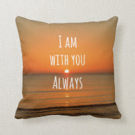 Inspirational God Quote: Bible Verse I am With You Throw Pillows