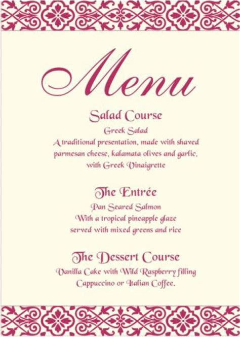 Wish Your Guests A Bon Appétit With Designer Menu Cards