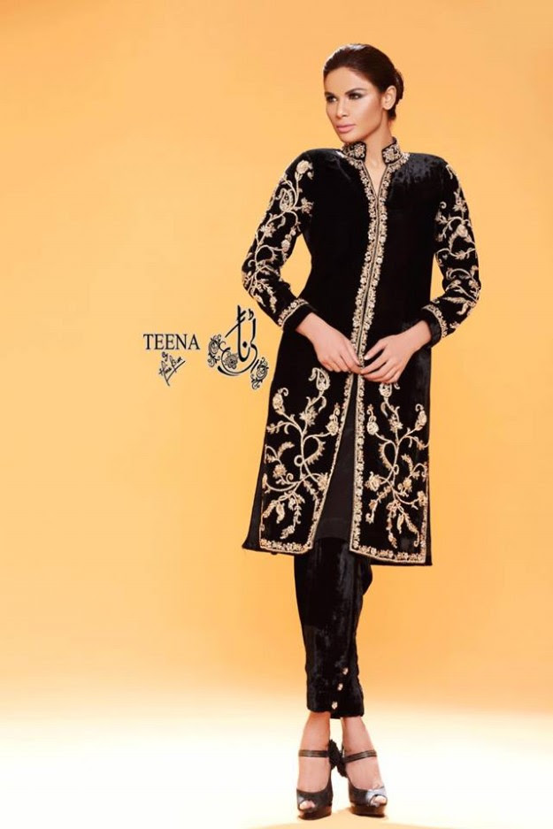 Womens-Girl-New-Fashion-Summer-Spring-Casual-Formal-Party-Wear-Suits-Teena-by-Hina-Butt-9