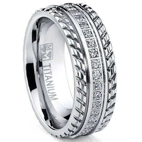 mens  womens eternity  titanium lcs diamond wedding