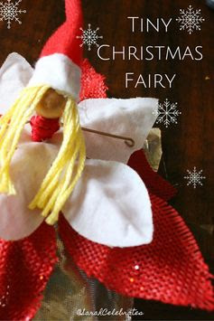 Tiny Christmas Fairy - Bring an air of magic and whimsy to your holiday decor with some tiny fairies | Sarah Celebrates