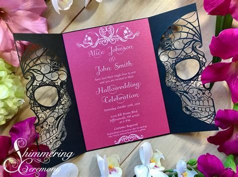 Day of the Dead Skull Gate Invitation   Shimmering Ceremony