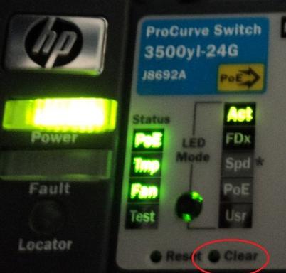 Frontal de switch HP Procurve 3500yl-24G