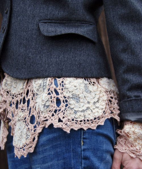just a peek of doily