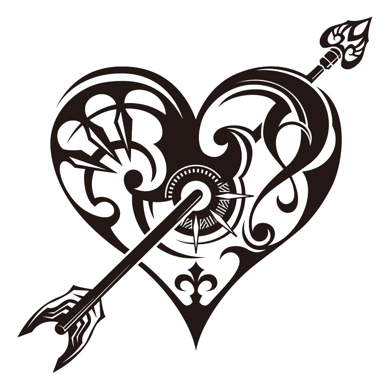 Free Flower And Heart Tattoo Download Free Clip Art Free Clip Art On Clipart Library